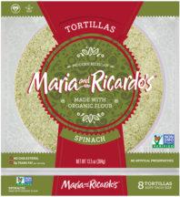 Spinach Flavor Veggie Tortillas