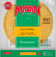 8 inch Yellow Corn Gluten Free Tortillas