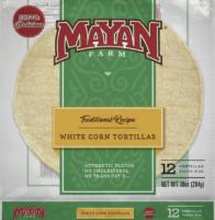 White Corn Tortilla - MayanFarm Corn Tortilla - Gluten Free Tortilla