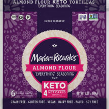 Keto Tortilla - Almond Flour Tortilla - Everything Seasoning Tortilla
