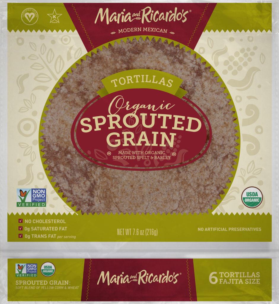 Maria and Ricardos Organic Sprouted Grain Tortillas