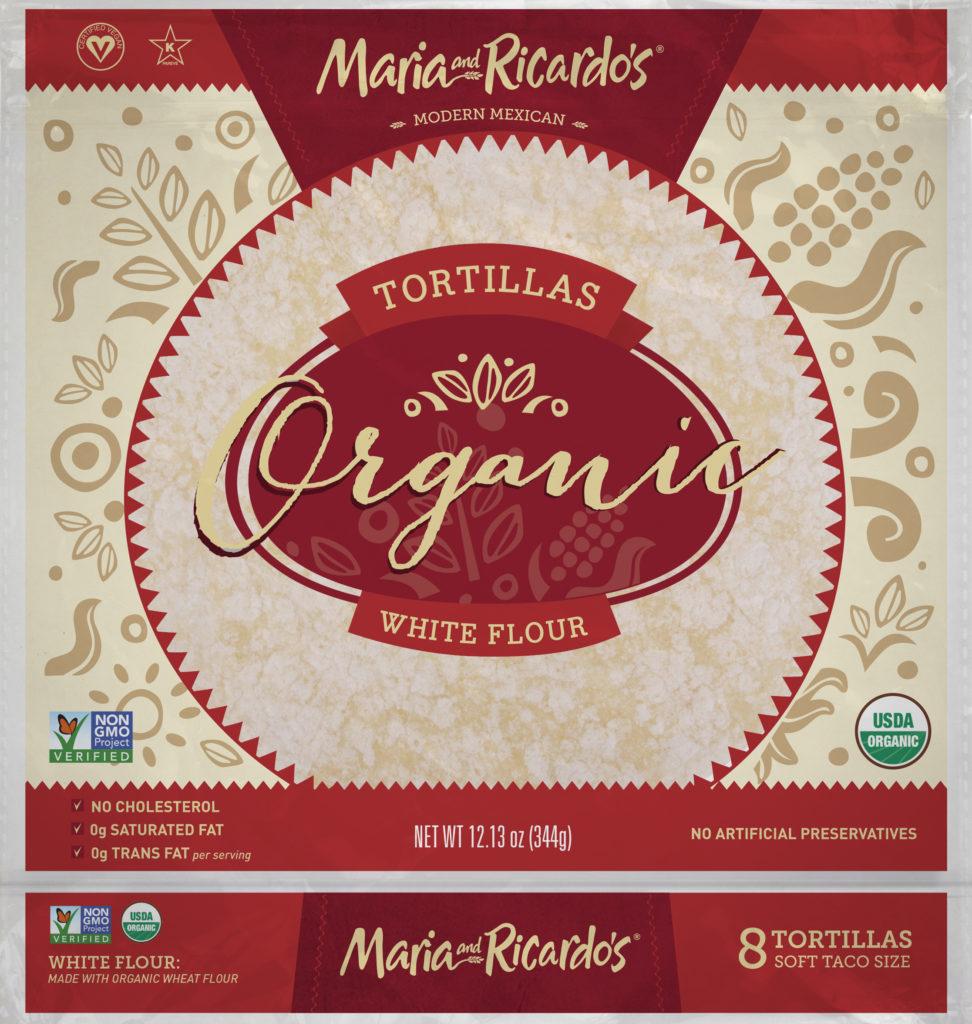 Maria and Ricardos Organic White Flour Tortillas