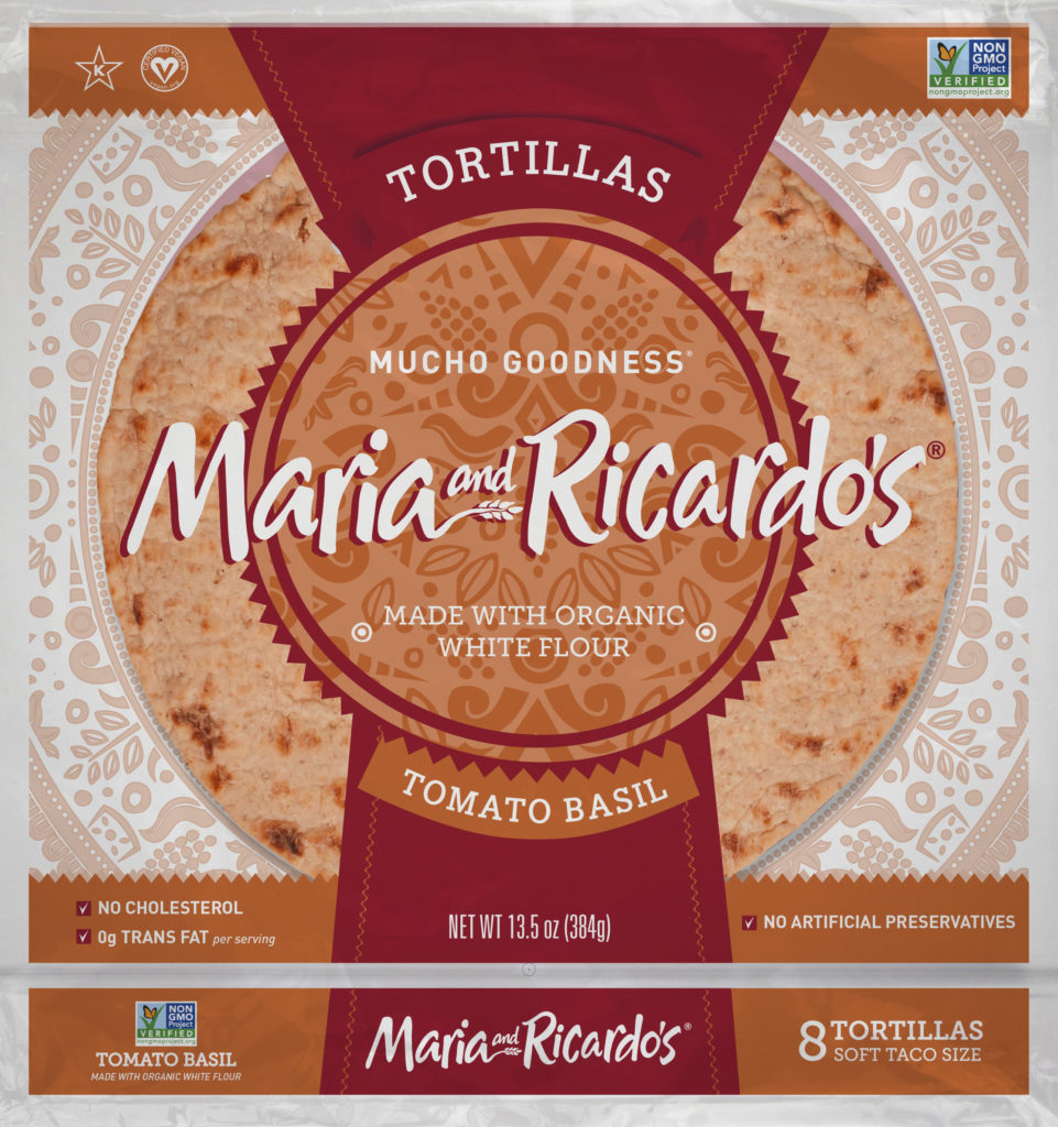 Maria and Ricardos Tomato Basil Tortillas