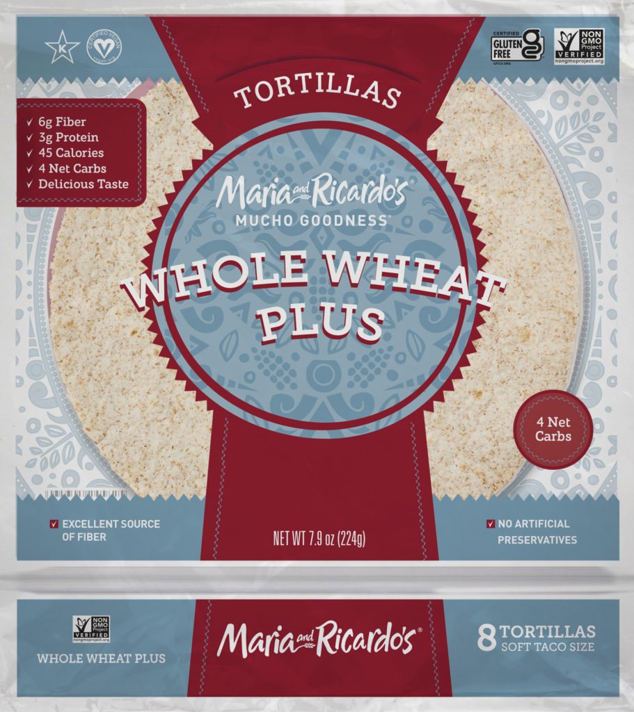 Maria and Ricardos Whole Wheat Plus Tortillas